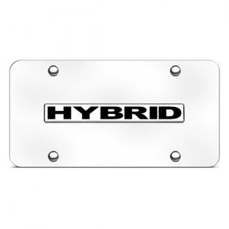 Autogold® - Hybrid Logo on Chrome License Plate