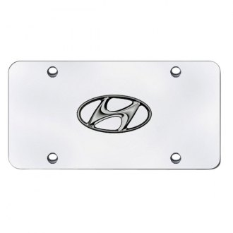 Autogold® - Hyundai Logo on Chrome License Plate