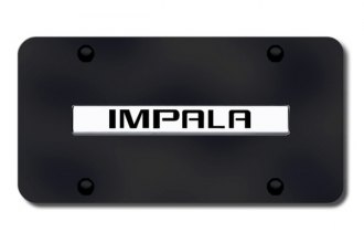 Autogold® - Impala Name Logo on Black License Plate