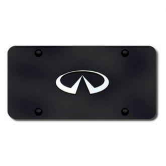 Autogold® - Infiniti Chrome Logo on Black License Plate