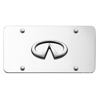 Autogold® - Infiniti Chrome Logo on Chrome License Plate