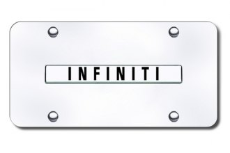 Autogold® - Infiniti Name Logo on Chrome License Plate
