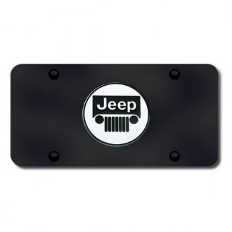 Autogold® - Jeep Logo on Black License Plate