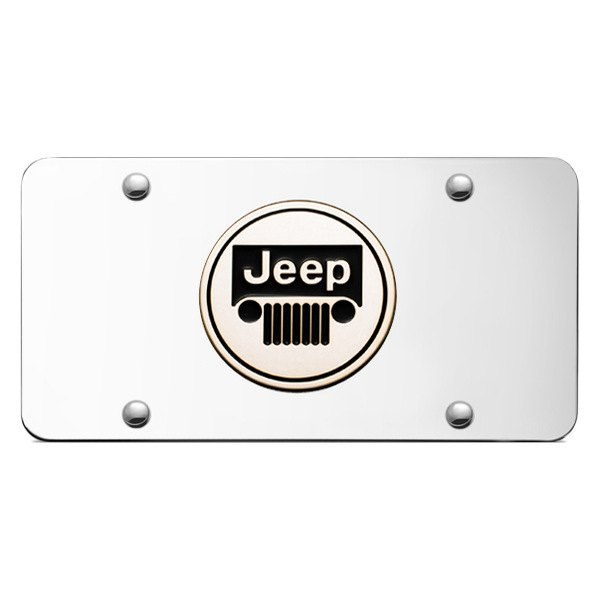Autogold® - Jeep Logo on Chrome License Plate