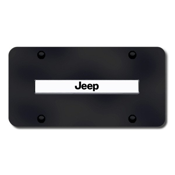Autogold® - Jeep Name Logo on Black License Plate