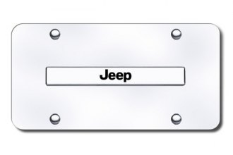 Autogold® - Jeep Name Logo on Chrome License Plate