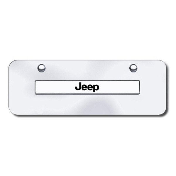 Autogold® - Jeep Name Logo on Chrome Mini Size License Plate