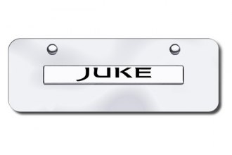 Autogold® JUKE.N.CCM - Juke Logo on Chrome Mini Size License Plate
