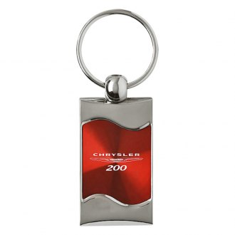 Autogold® - 200 Rectangular Wave Red Key Chain