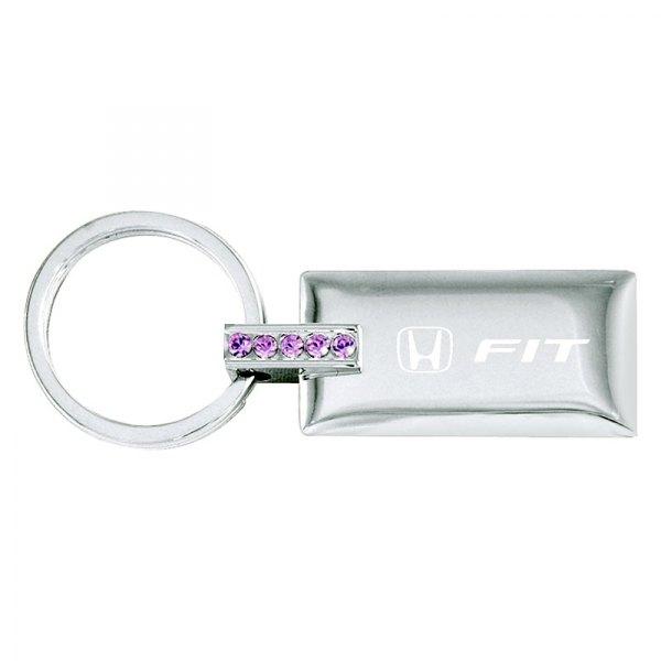 Autogold® - Fit Jeweled (Pink) Rectangular Key Chain