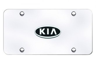 Autogold® - Kia OEM Chrome Logo on Chrome License Plate