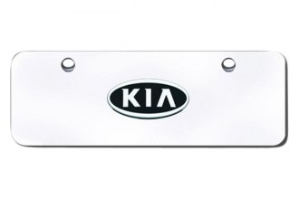 Autogold® - Mini Size License Plate with 3D Kia OEM Logo