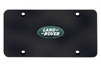 Autogold® - Land Rover Logo on Black License Plate