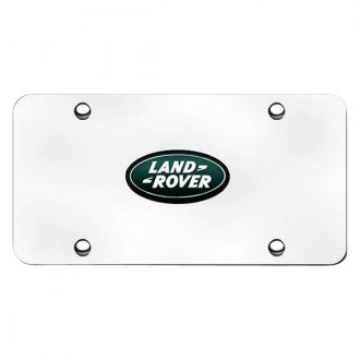 Autogold® - Land Rover Green Logo on Chrome License Plate