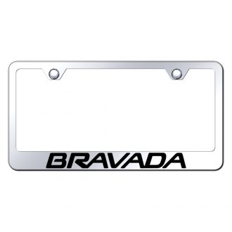 Autogold® - License Plate Frame with Laser Etched Bravada Logo