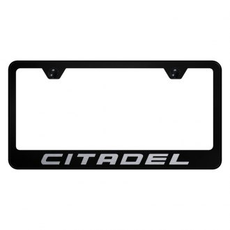 Autogold® - Black License Plate Frame with Laser Etched Citadel Logo