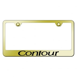 Autogold® - Gold License Plate Frame with Laser Etched Contour Logo