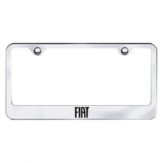 Autogold® - Laser Etched Fiat Logo on Chrome Metal License Frame