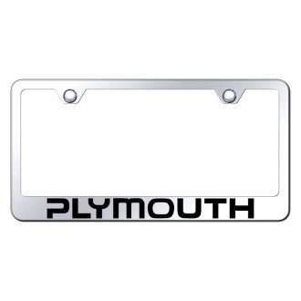 Autogold® - Laser Etched Plymouth Logo on Chrome License Frame