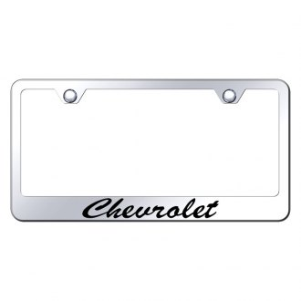 Autogold® - Chevy Script Laser Etched Logo on Chrome License Frame