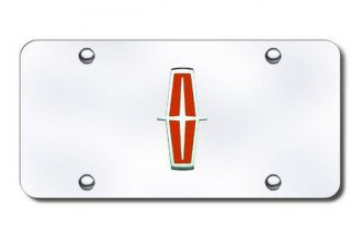 Autogold® - Lincoln New Logo on Chrome License Plate