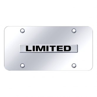Autogold® - Limited Logo on Chrome License Plate