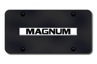 Autogold® - Magnum Logo on Black License Plate