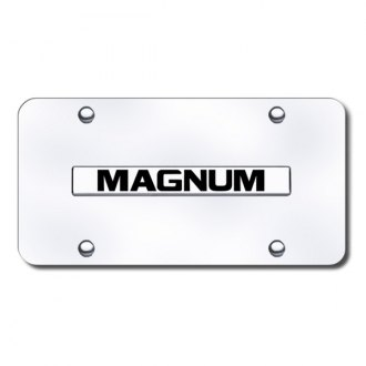 Autogold® - Magnum Logo on Chrome License Plate