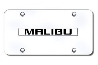 Autogold® - Malibu Logo on Chrome License Plate