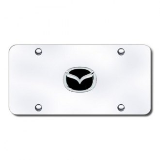 Autogold® - Mazda Logo on Chrome License Plate