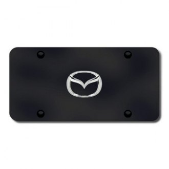 Autogold® - Mazda New Logo on Black License Plate