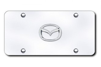 Autogold® - Mazda New Logo on Chrome License Plate