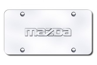 Autogold® - Mazda Name Logo on Chrome License Plate