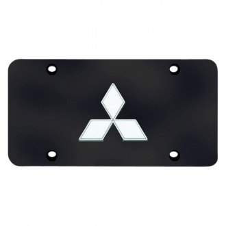 Autogold® - Mitsubishi Logo on Black License Plate