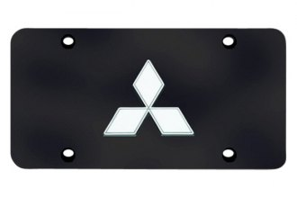 Autogold® - License Plate with Mitsubishi Emblem