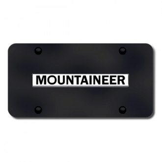 Autogold® - Mountaineer Logo on Black License Plate