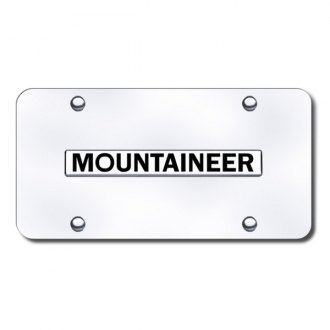 Autogold® - Mountaineer Logo on Chrome License Plate