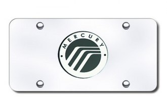 Autogold® - Mercury Logo on Chrome License Plate