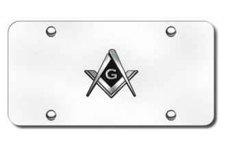 Autogold® - Mason Logo on Chrome License Plate