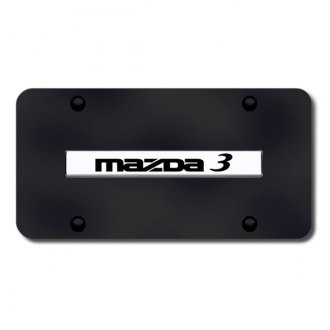 Autogold® - Mazda 3 Logo on Black License Plate