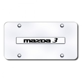 Autogold® - Mazda 3 Logo on Chrome License Plate