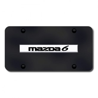 Autogold® - Mazda 6 Name on Black License Plate