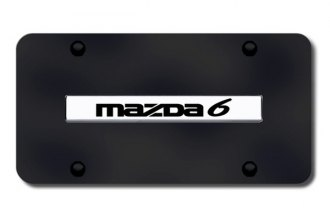 Autogold® - Mazda 6 Logo on Black License Plate