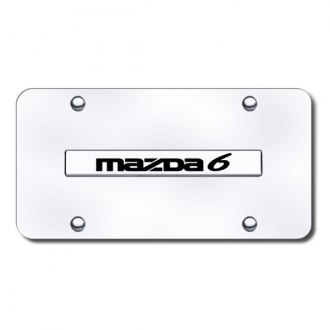 Autogold® - Mazda 6 Name Name on Chrome License Plate
