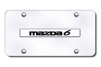 Autogold® - Mazda 6 Name Logo on Chrome License Plate