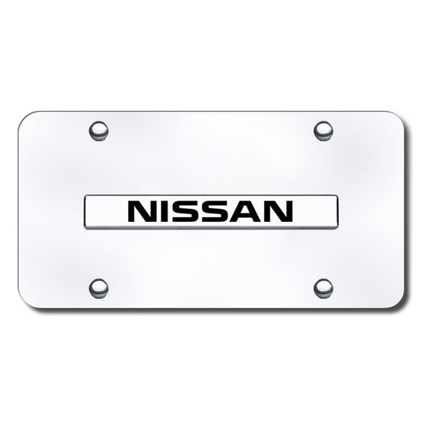 Autogold® - Nissan Name Logo on Chrome License Plate