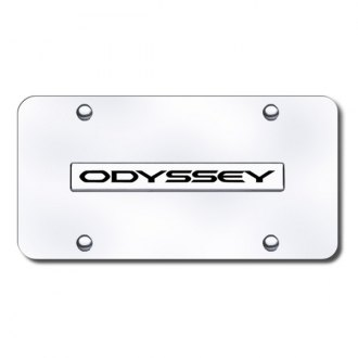 Autogold® - Odyssey Name Logo on Chrome License Plate