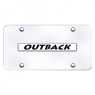 Autogold® - Chrome License Plate with Outback Logo