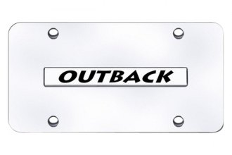 Autogold® - Outback Logo on Chrome License Plate