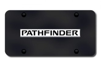 Autogold® - Pathfinder Name Logo on Black License Plate